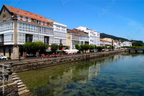 Foto auf AluDibond Stadt am Wasser View of Cedeira, A Coruna, Galicia, Spain