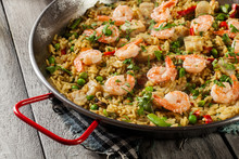 Traditional Seafood Paella Wit...