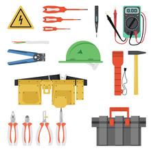 Electrician Tool Flat Set