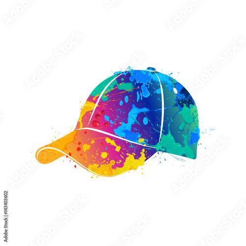 splash of watercolors baseball cap Poster