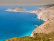 Mare e costa della grecia vista dall'alto