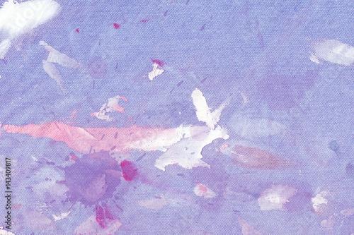 Fotobehang Vlinders in Grunge Pattern of blue grunge dirty jeans in paint