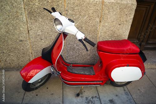 Deurstickers Fiets Classic scooter Vespa