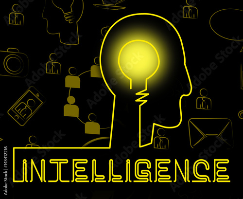 Intelligence Brain Representing Intellectual Capacity And Acumen Canvas Print