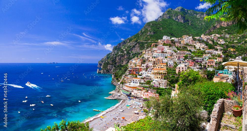 Fototapety, obrazy: Beautiful coastal towns of Italy - scenic Positano in Amalfi coast