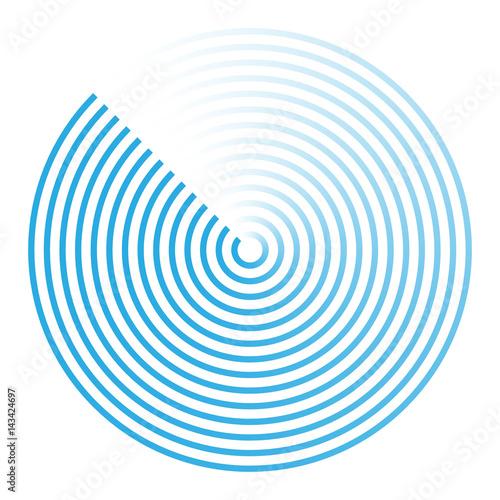 Fotografía  radar abstract icon symbol vector illustration