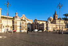 Rome, Italy. View Of Piazza De...