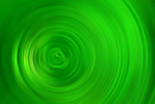 Spin Blur Circle Of Green Abst...