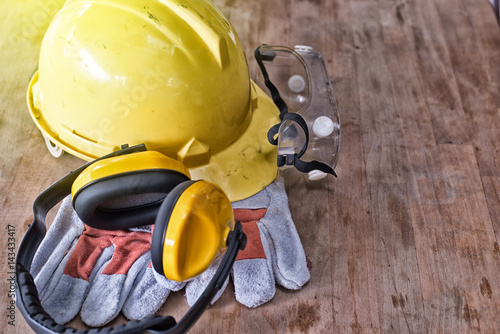 Fotografia  Standard construction safety