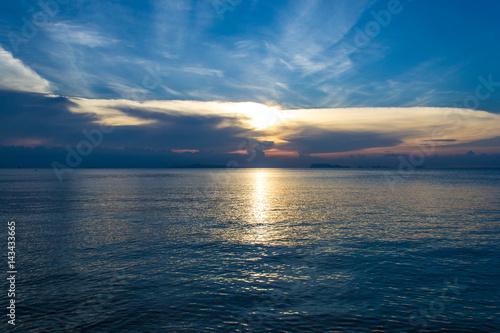 Spoed Foto op Canvas Zee zonsondergang Beautiful landscape. The sea in the evening. Beautiful sunset