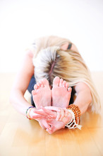 Woman In Yoga Posture Of The P...