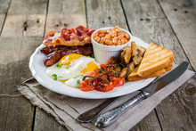 Full English Breakfast - Eggs,...