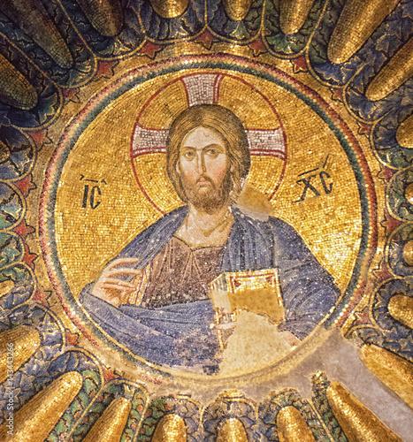 Fotografie, Obraz  Restored Ancient Mural at Chora Church