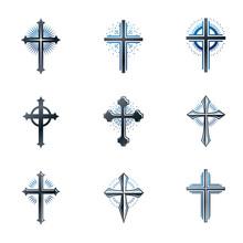 Crosses Of Christianity Emblem...