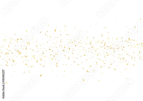 Abstract background with flying subtle golden confetti. Tableau sur Toile