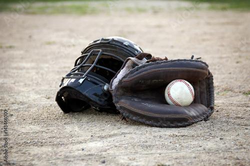 Fotografie, Obraz  Men's baseball catcher's gear