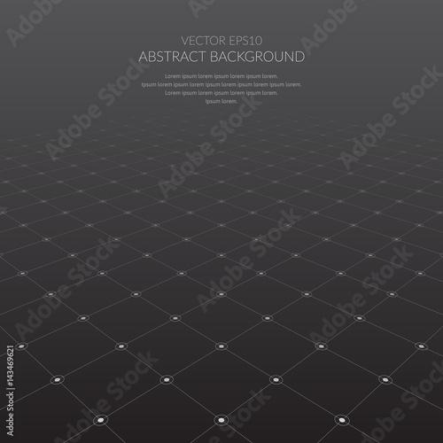 Zdjęcie XXL Streszczenie tło z siatką elementów geometrycznych.