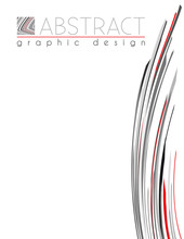 Line. Template Of Page With Black, Red And Gray Thin Strips. Vector