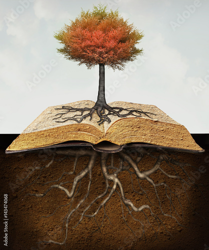 Foto auf AluDibond Surrealismus Knowledge Roots