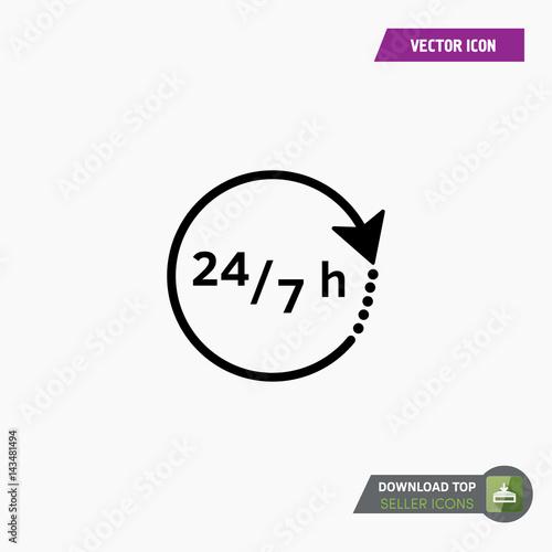 Fényképezés  7/24 services - Vector web icon