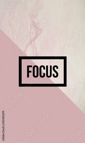 Focus motivational quote on abstract liquid background. Fototapeta