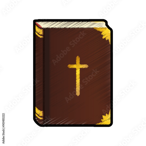 Holy bible christianity icon vector illustration graphic design