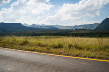 Mountain Landscape In Golden Gate Highlands National Park In South Africa's Free State