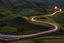 Winding Curvy Rural Road With ...