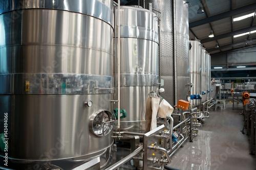 Staande foto Industrial geb. Machinery in juice factory