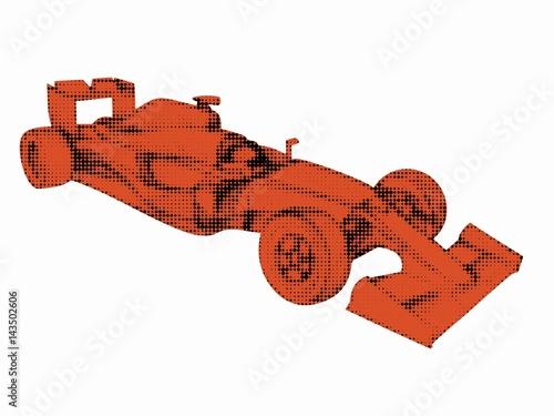 Foto op Plexiglas F1 illustration of a formula F1 racer, vector draw