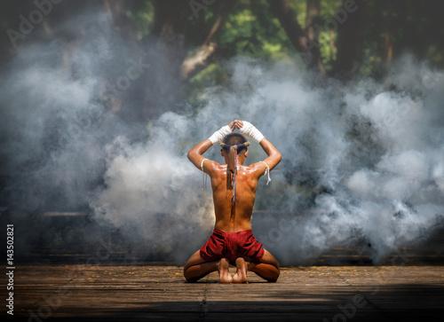 Muay thai or Thai boxing at Thailand Fototapete