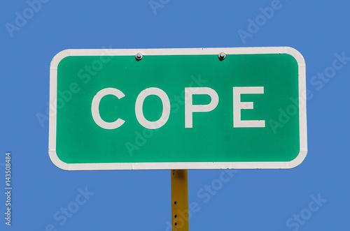 Fotografie, Obraz  Cope Sign