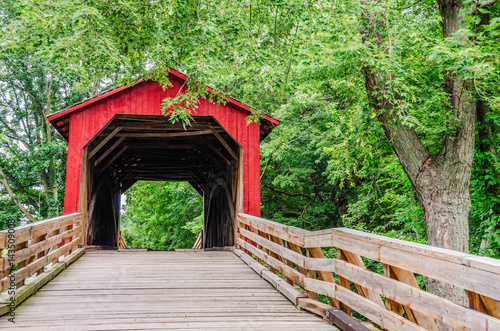Burr Arch Covered Bridge near Route 66 Canvas Print
