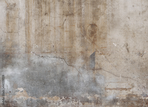 Wall Murals Old dirty textured wall Aged cement wall texture with crack