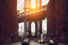 Sunset In New York City. Dumbo...