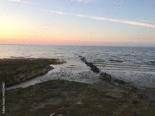 Spoed Foto op Canvas Noordzee Abendstimmung an der Nordsee