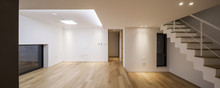 White Empty Living Room With S...