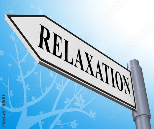 Spoed Foto op Canvas Noordzee Relax Relaxation Representing Tranquil Resting 3d Illustration
