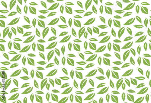 Fotografija  Greenery leaf seamless pattern background vector illustration