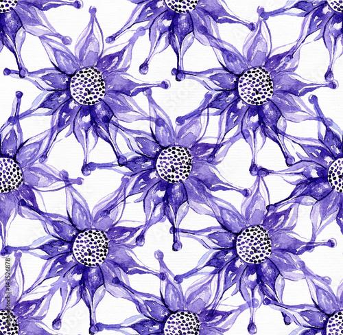 Obrazy wieloczęściowe wzór egzotycznych kwiatów