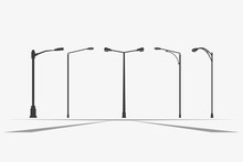 Street Light Vector Icon.