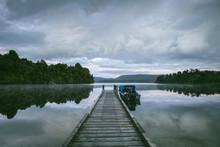 Jetty Lake Mapourika New Zealand