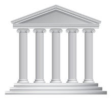 Greek Or Roman Temple Columns