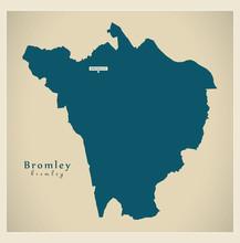 Modern Map - Bromley Borough Greater London UK England