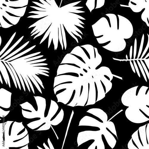 bezszwowy-wektorowy-tlo-z-dekoracyjnymi-liscmi-liscie-palmowe