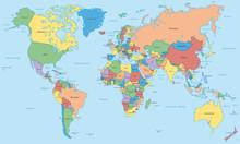 Weltkarte - Einzelne Länder I...