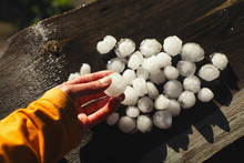 Very Large Hail In The South Urals.