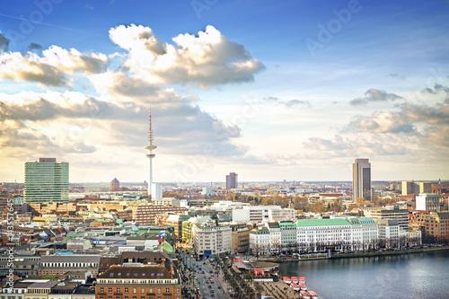 Fotografía  Hamburg cityscape, Germany