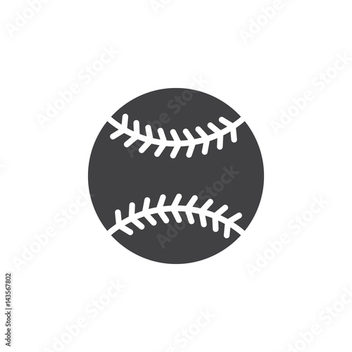 6c636a3b4a8a2 Baseball ball icon vector