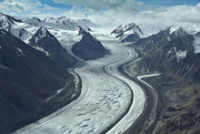 Aerial Photo Of A Glacier Betw...